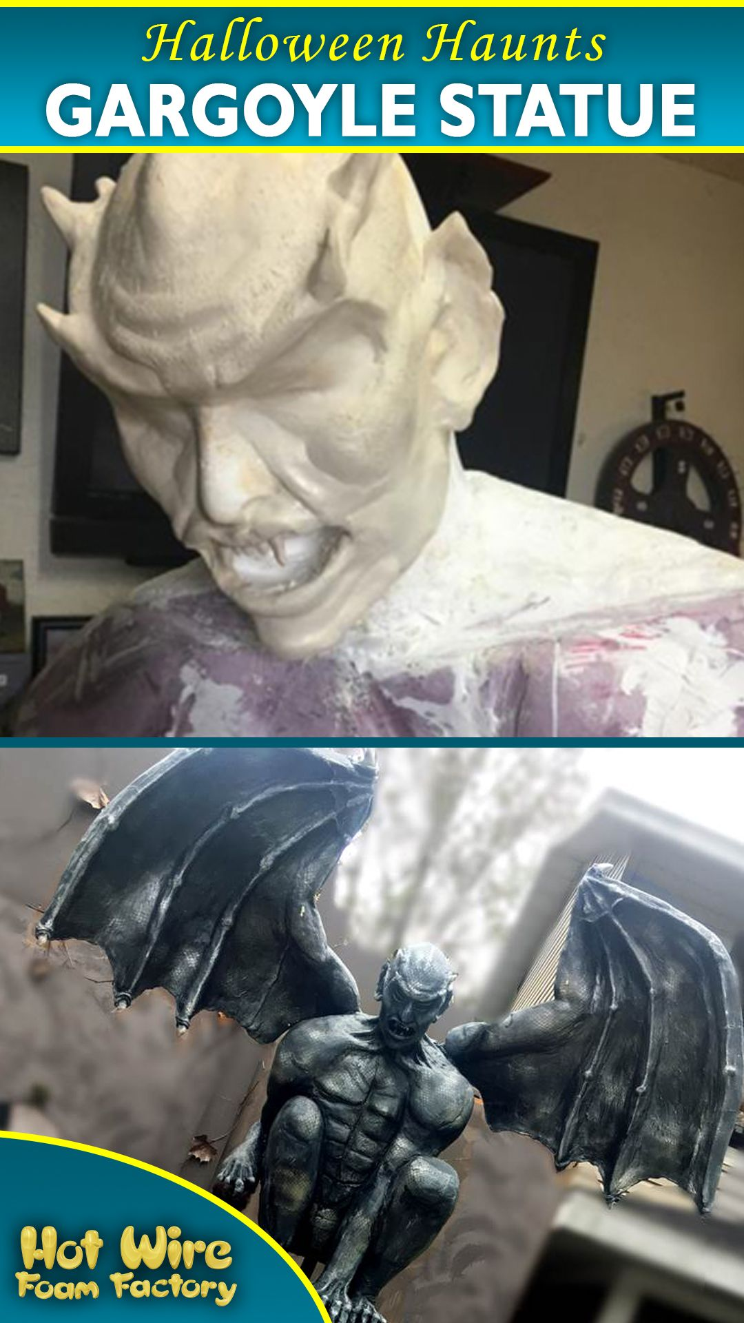 Hots Halloween Mount 2020 Foam Gargoyle Statue | Hot Wire Foam Factory in 2020 | Gargoyles