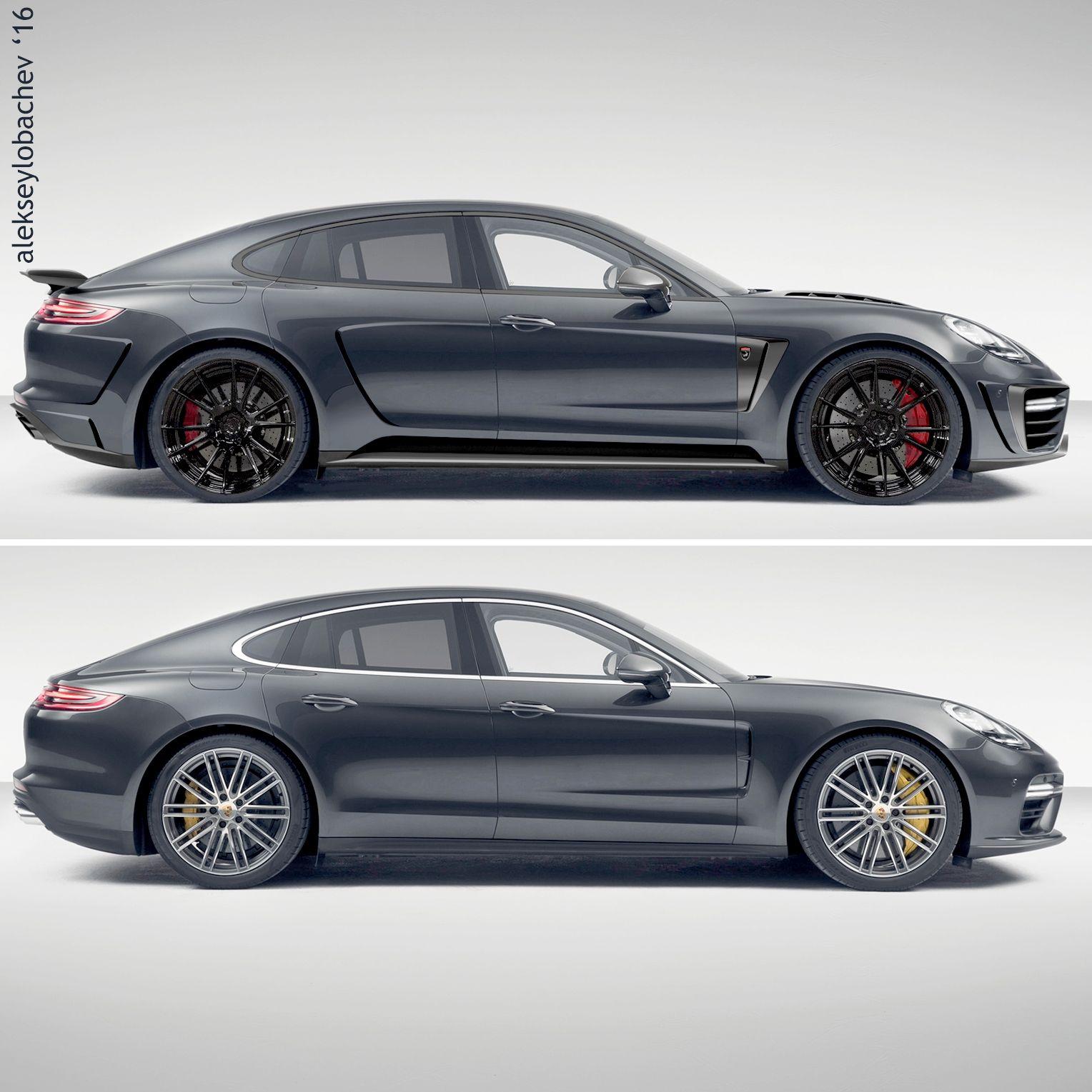 Porsche Panamera Car: Sketch Porsche Panamera 2017
