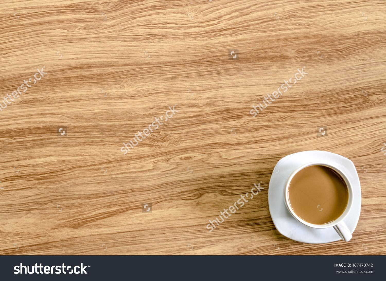 Coffee On Wood Table Stock Photo 467470742 : Shutterstock