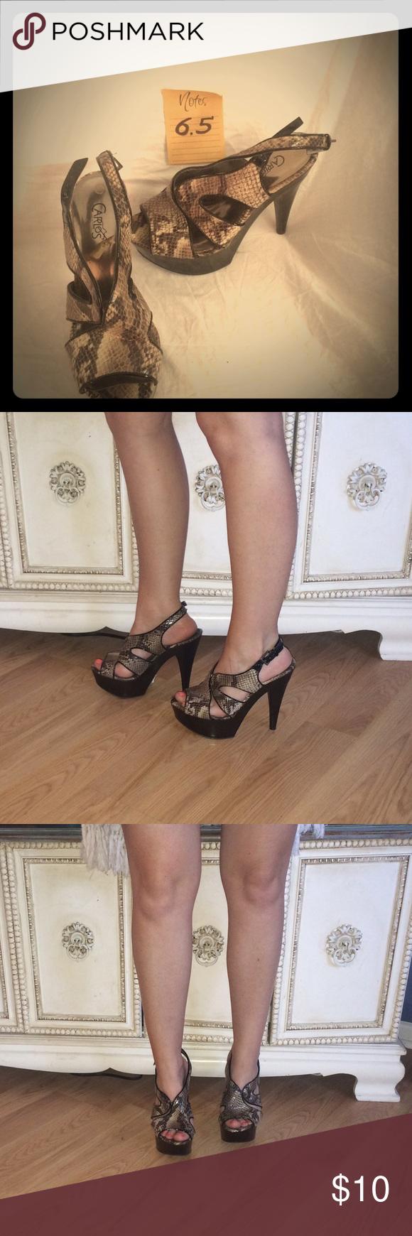 Carlos Santana snake print stilettos Ssssssexy Sssssnake print heels Carlos Santana Shoes Heels