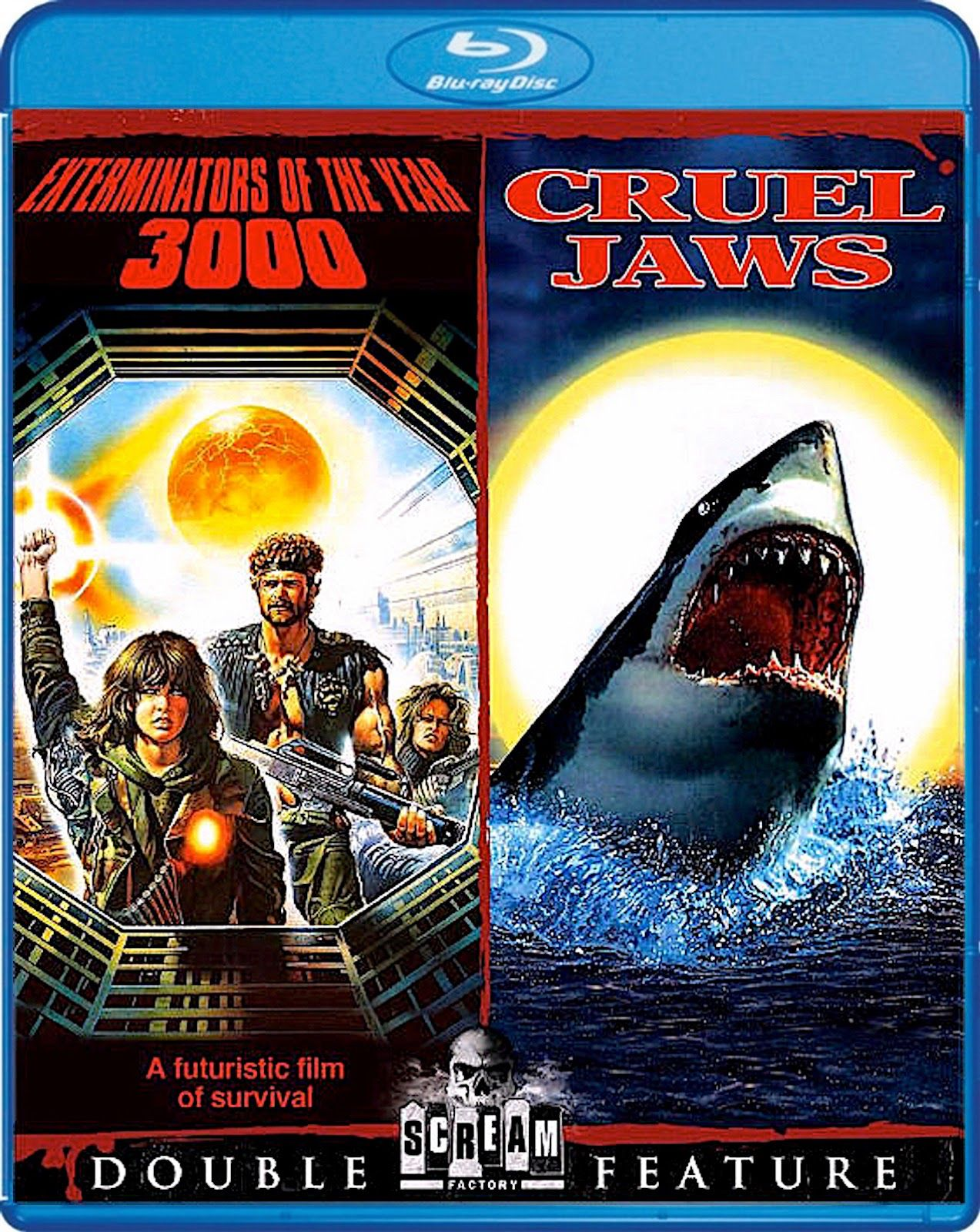 ELIMINATORS OF THE YEAR 3000 / CRUEL JAWS BLURAY SCREAM