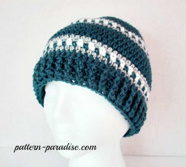 Free Crochet Pattern - Snowy Day Hat | Worsted Weight yarn patterns ...