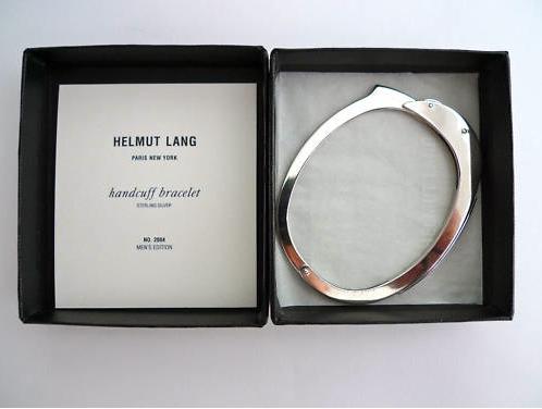 Helmut Lang Sterling Silver Handcuff Bracelet 2004