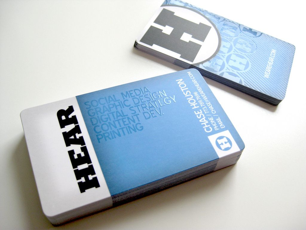 Hear Agency Business Cards Agency Business Cards Business Card Design Creative Business Cards Creative