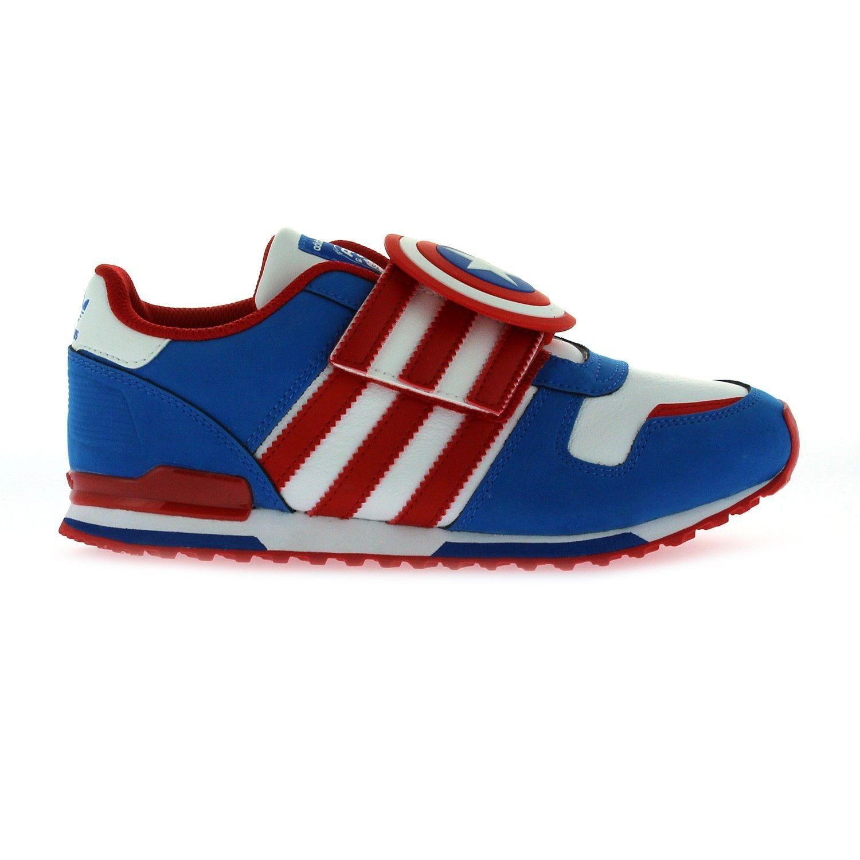Color rosa pecador Exactamente  Adidas Originals Marvel Captain America ZX 700 (D67799) | Boys shoes,  School shoes, Adidas originals