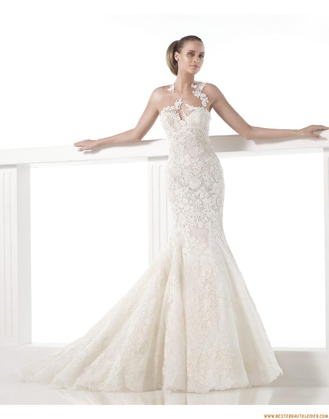 2015 Meerjungfrau Romantische Traumhafte Brautkleider aus Spitze mit ...