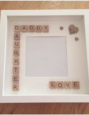 Handmade Daddy/Daughter Fathers Day Gift Scrabble Art Frame ...