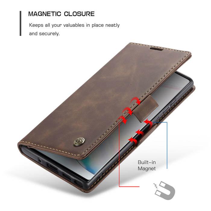 CaseMe Samsung Galaxy A81/Note 10 Lite Wallet Magnetic Case Coffee