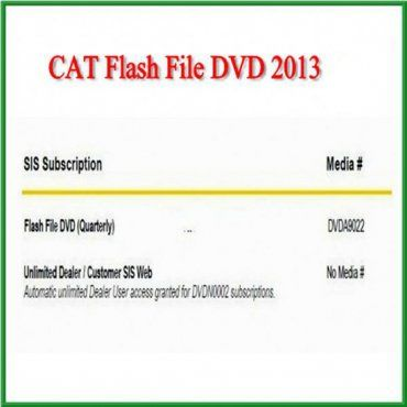 Caterpillar Flash Files DVD Factory flash files for the Flash memory