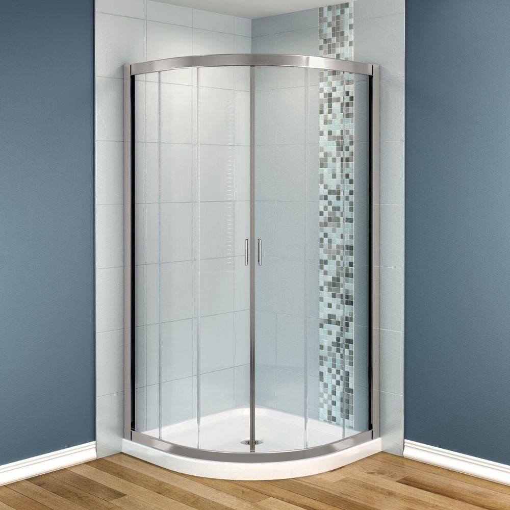 MAAX Intuition 40 in. x 40 in. x 73 in. Shower Stall in White ...