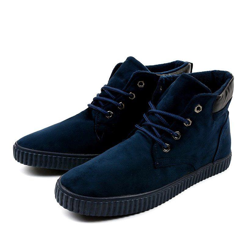Granatowe Ocieplane Meskie Trampki An06 Sneakers Men Sneakers Classic Sneakers
