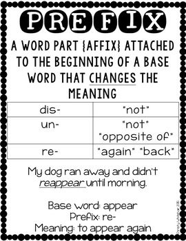 PREFIX POWER: RE-, UN-, DIS- - TeachersPayTeachers.com