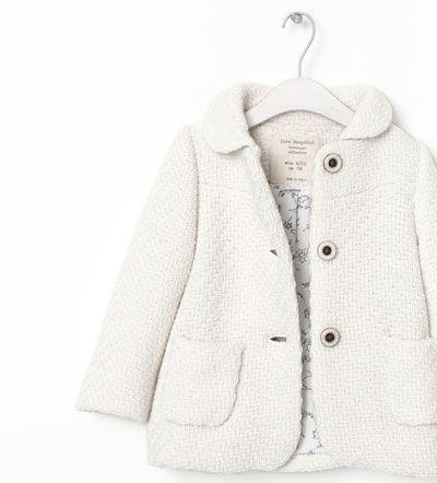 Image 4 of COAT WITH BUTTONS from Zara | Zara kids, Moda ...