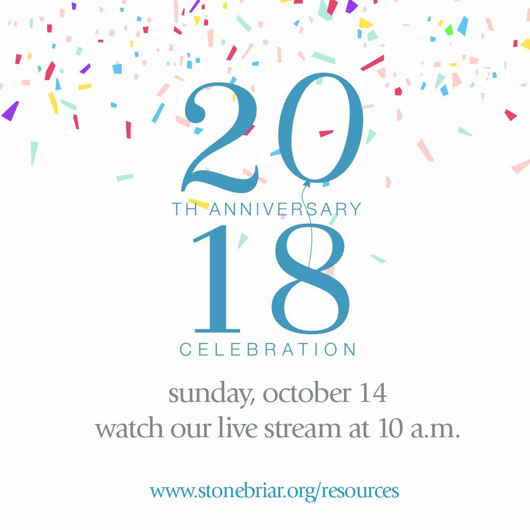 Resources At 20th Anniversary Anniversary Worship Service