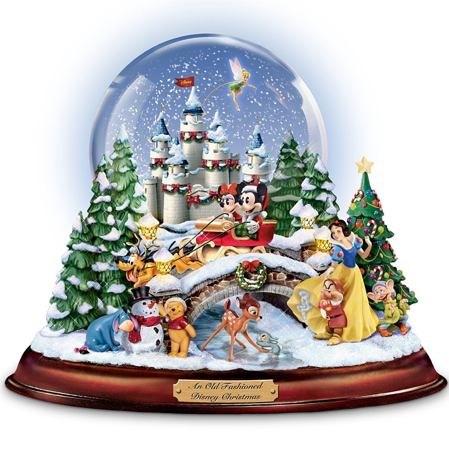 Disney Figures Snow Globe 'Musical Snowglobe