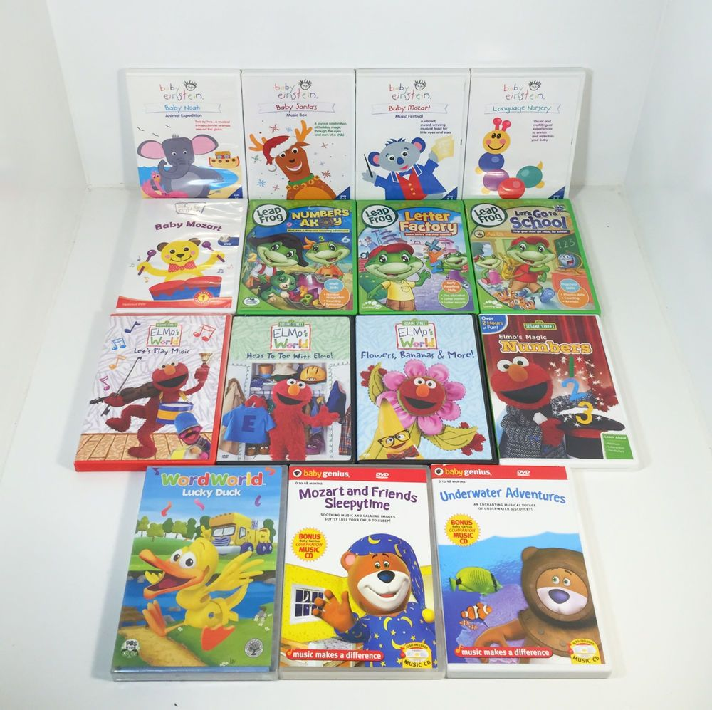 Lot Of 15 Baby Einstein Leap Frog Elmo Sesame Street Baby