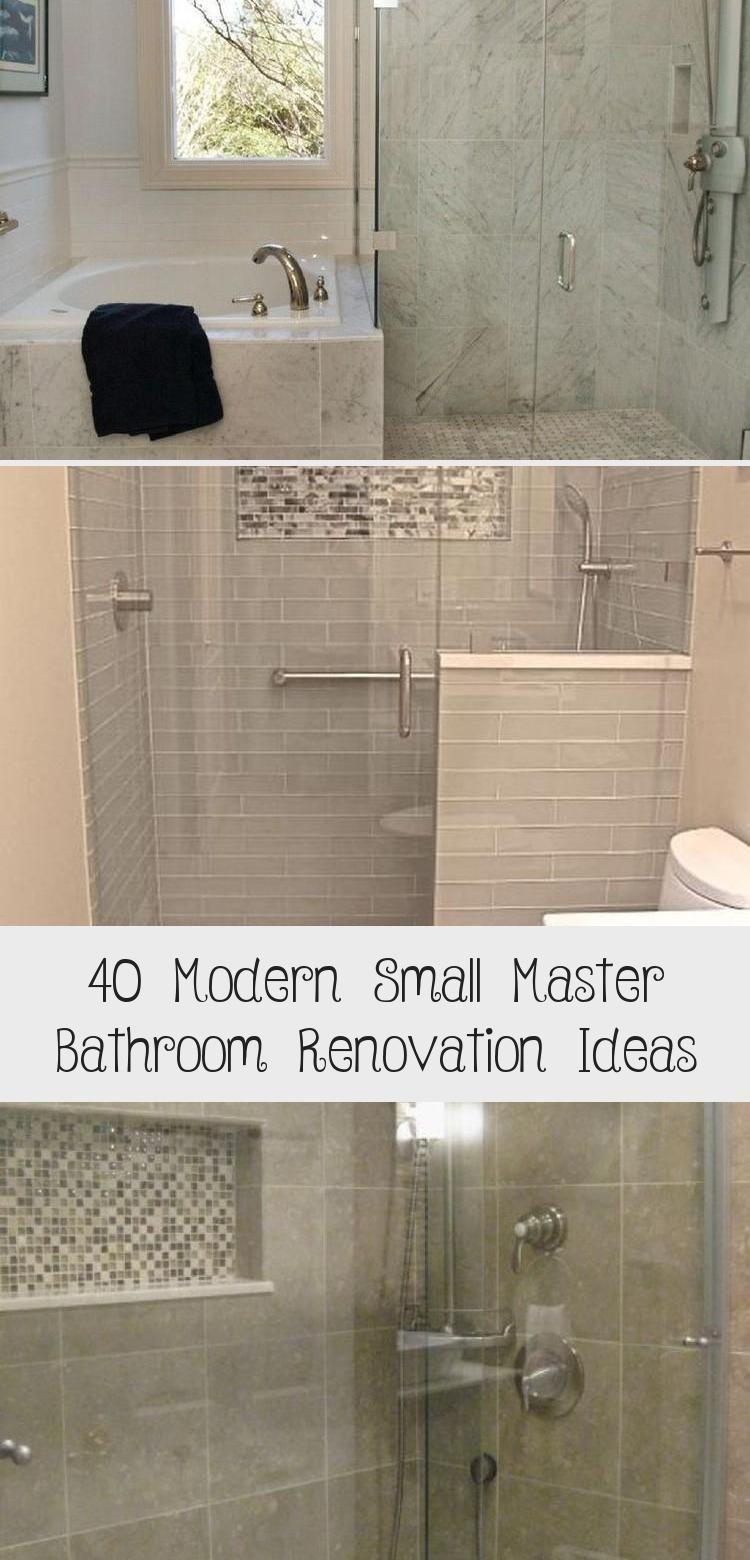 40 Modern Small Master Bathroom Renovation Ideas Bathroomideas Bathroomdesign Littlebath In 2020 Bathroom Renovations Master Bathroom Renovation Bathroom Renovation