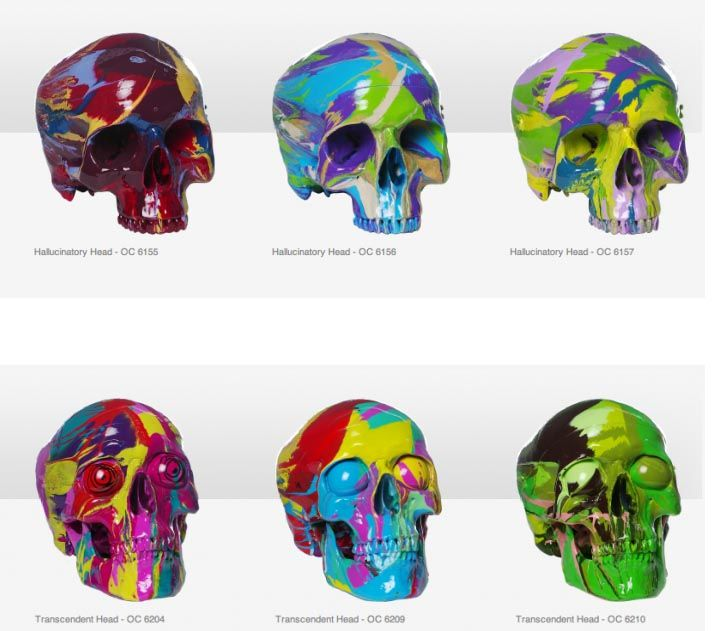 We Love Skulls! Skulls painted by Damien Hirst