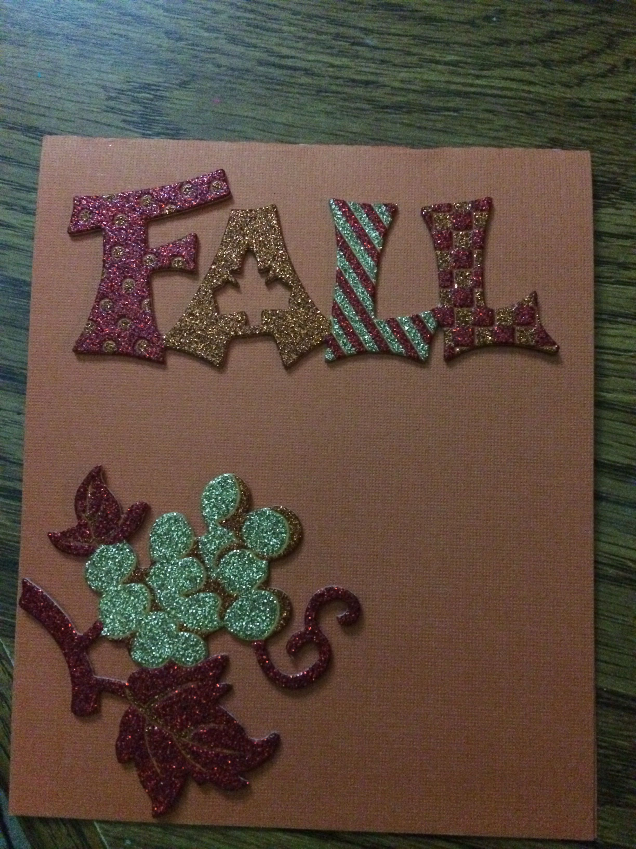 Fall card with stuff from when I started