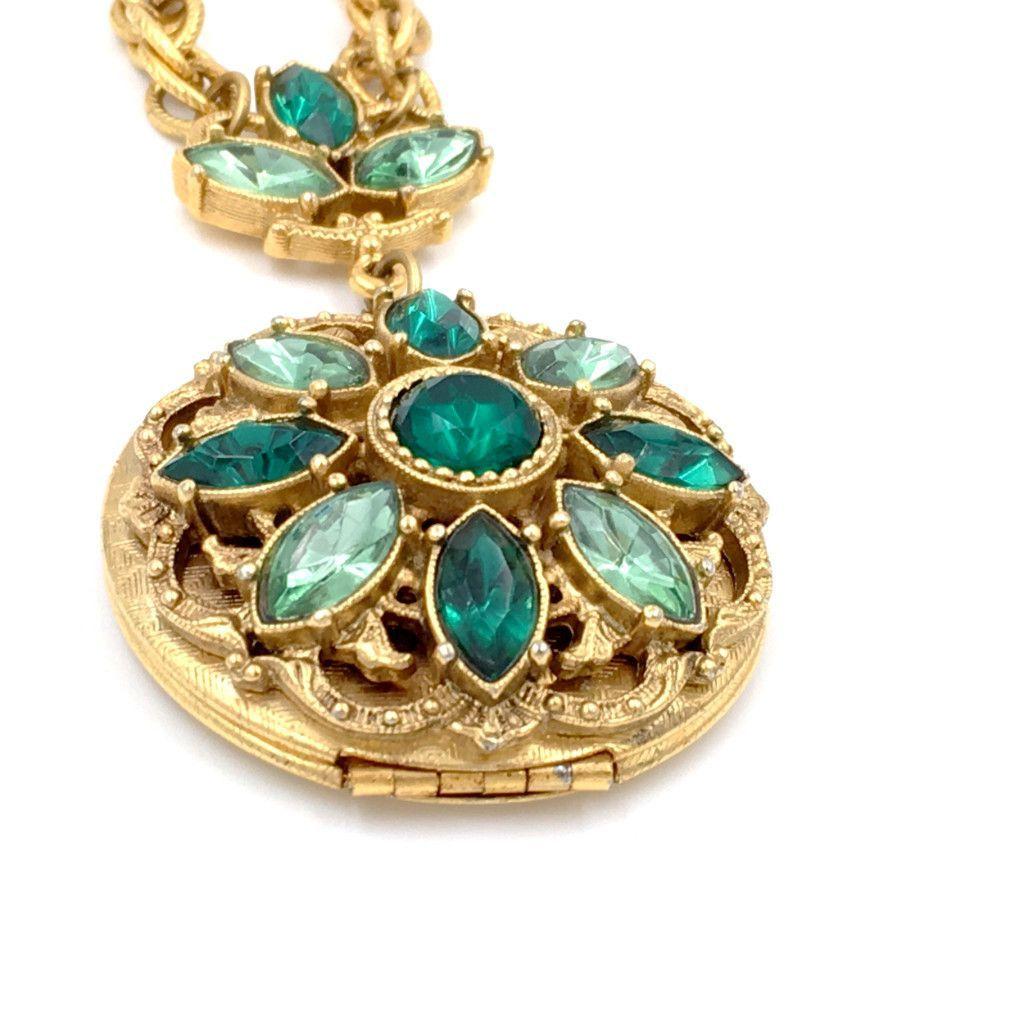 vintage Victorian locket necklace