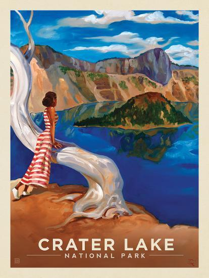 Crater Lake National Park: Crystal View Prints by Anderson Design Group at AllPosters.com #craterlakenationalpark