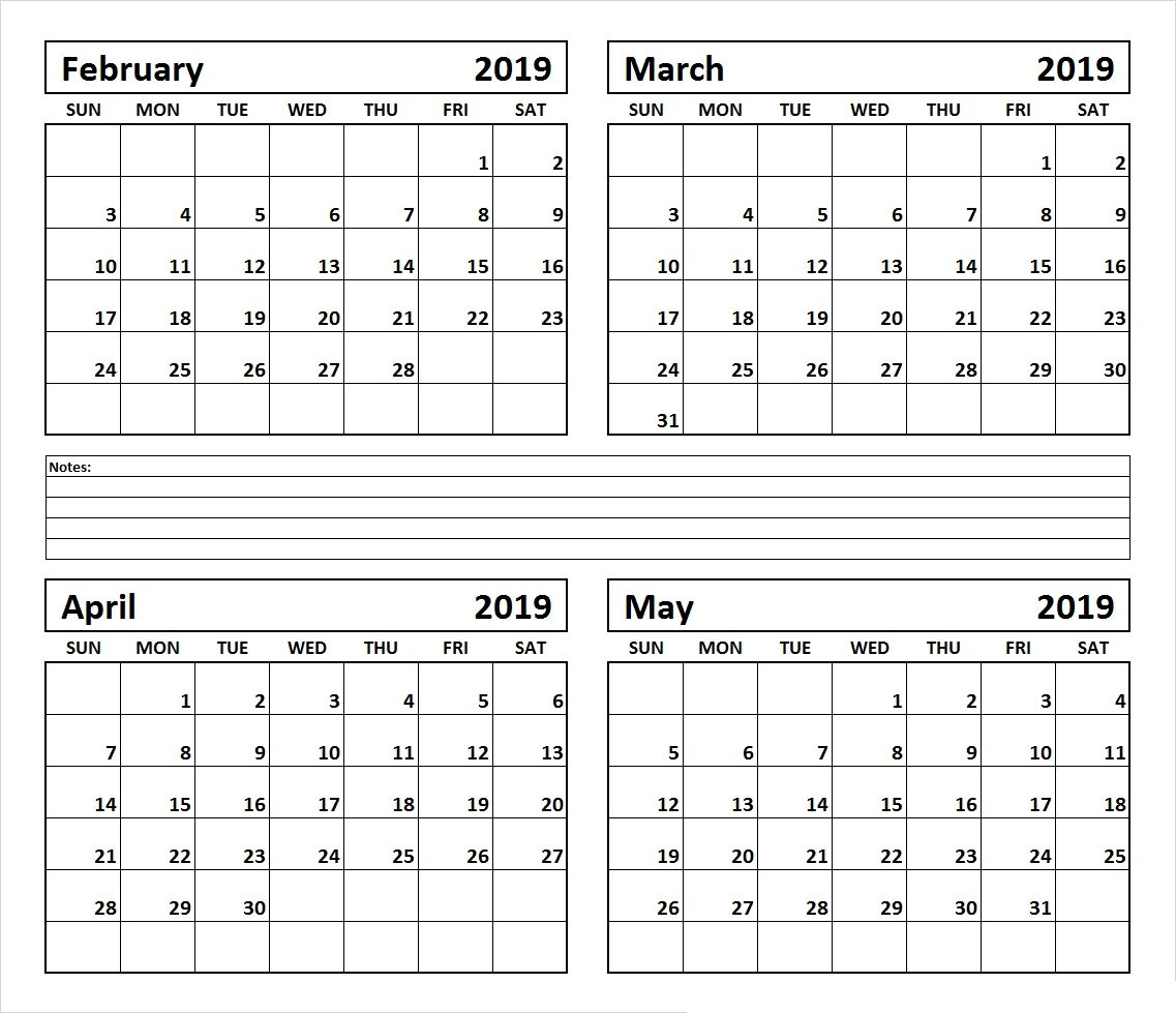 February March April Amp May 2019 July 2019 Calendar Get