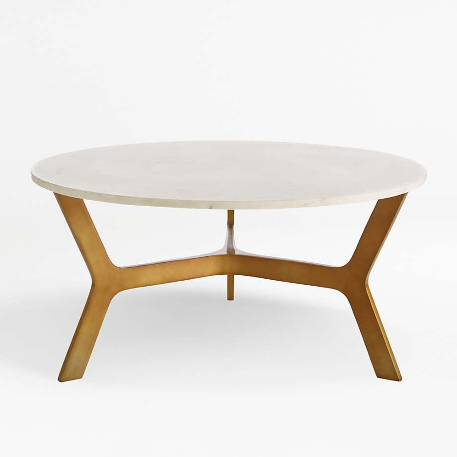 Elke Round Marble Coffee Table With Brass Base Reviews Crate And Barrel Canada Marble Round Coffee Table Coffee Table Marble Coffee Table [ 920 x 920 Pixel ]