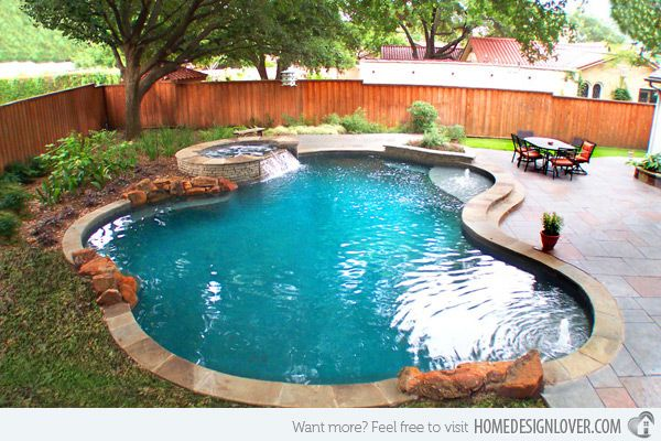 15 Remarkable Free Form Pool Designs Home Design Lover Backyard Pool Designs Small Backyard Pools Backyard Pool