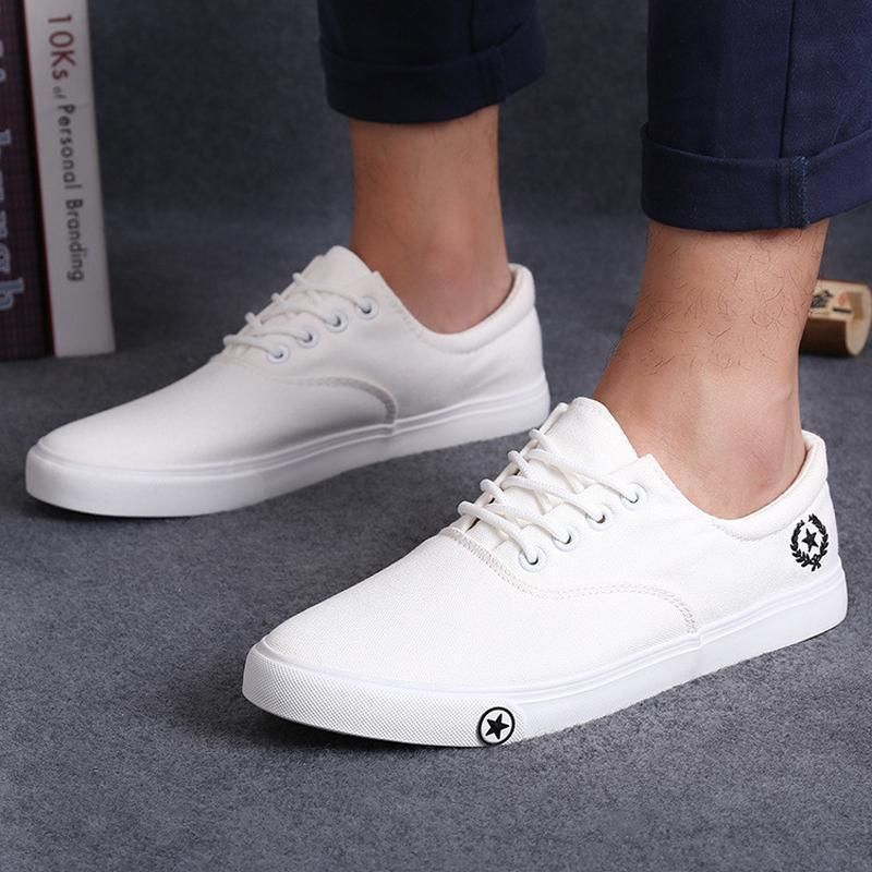 2c5d5131e8  14.76 - Celebrity Men Canvas Board Boat Shoes Lace-Up Sneakers Casual Flat  Running Shoes  ebay  Fashion