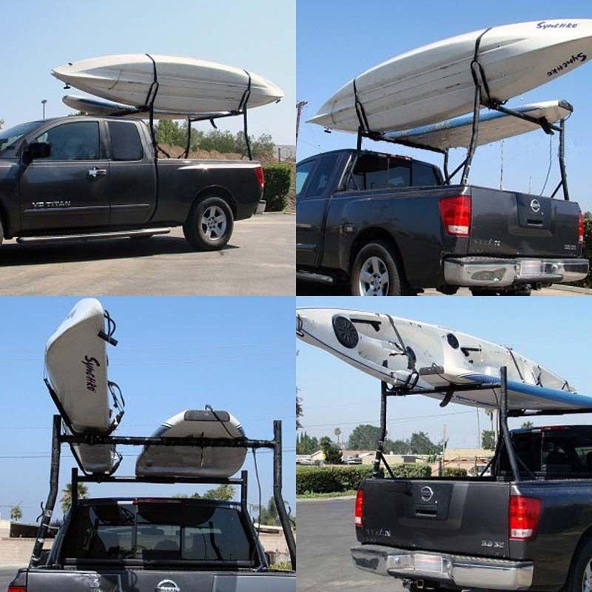 2 Pairs Universal Roof J-Bar Rack Kayak Boat Canoe Car SUV Top Mount Carrier New