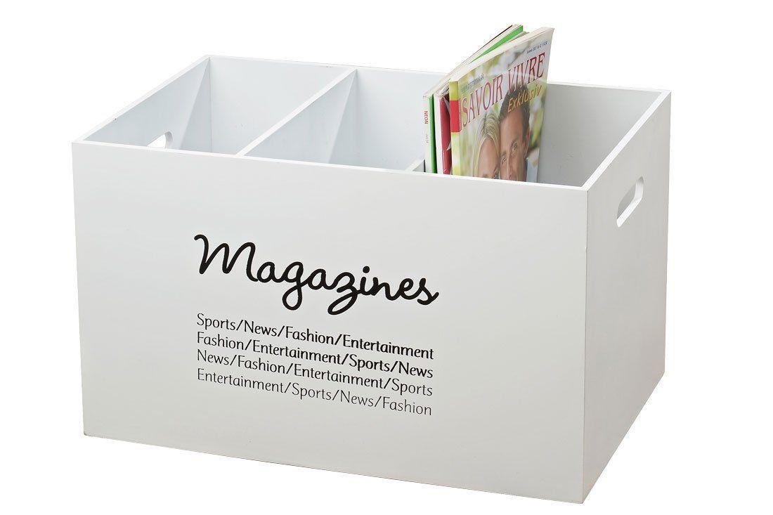 zeitungsst nder magazines aus holz zeitschriftenhalter landhaus wei k che. Black Bedroom Furniture Sets. Home Design Ideas
