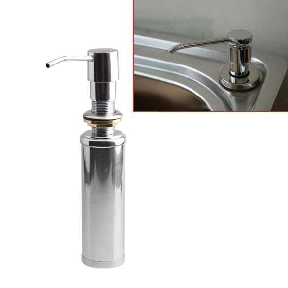 Cheaper Stainless Steel Liquid Soap Dispenser Kitchen Sink Soap Box Free Shipping Chrome Finish Soap Pump Dispenser Soap Dispenser Stainless Steel Kitchen Sink