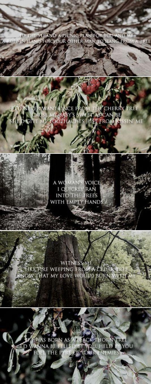 Hozier lyrics ft. trees From Eden / Work Song / In The