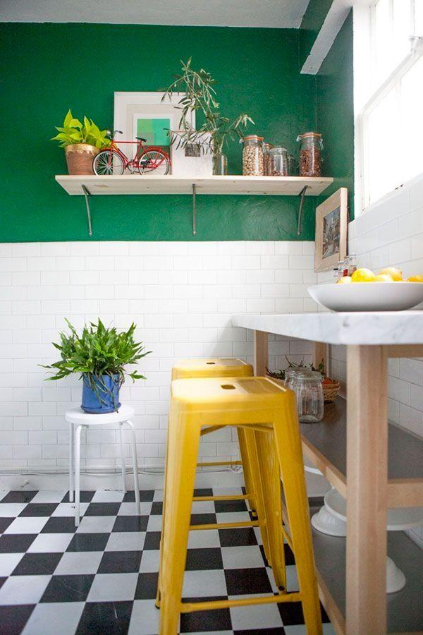 Inspirations Sol Damier Avec Images Designs De Petite Cuisine