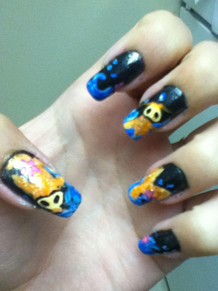koi fish nail art inspired by robinmosesnailart | Nail art by kym ...