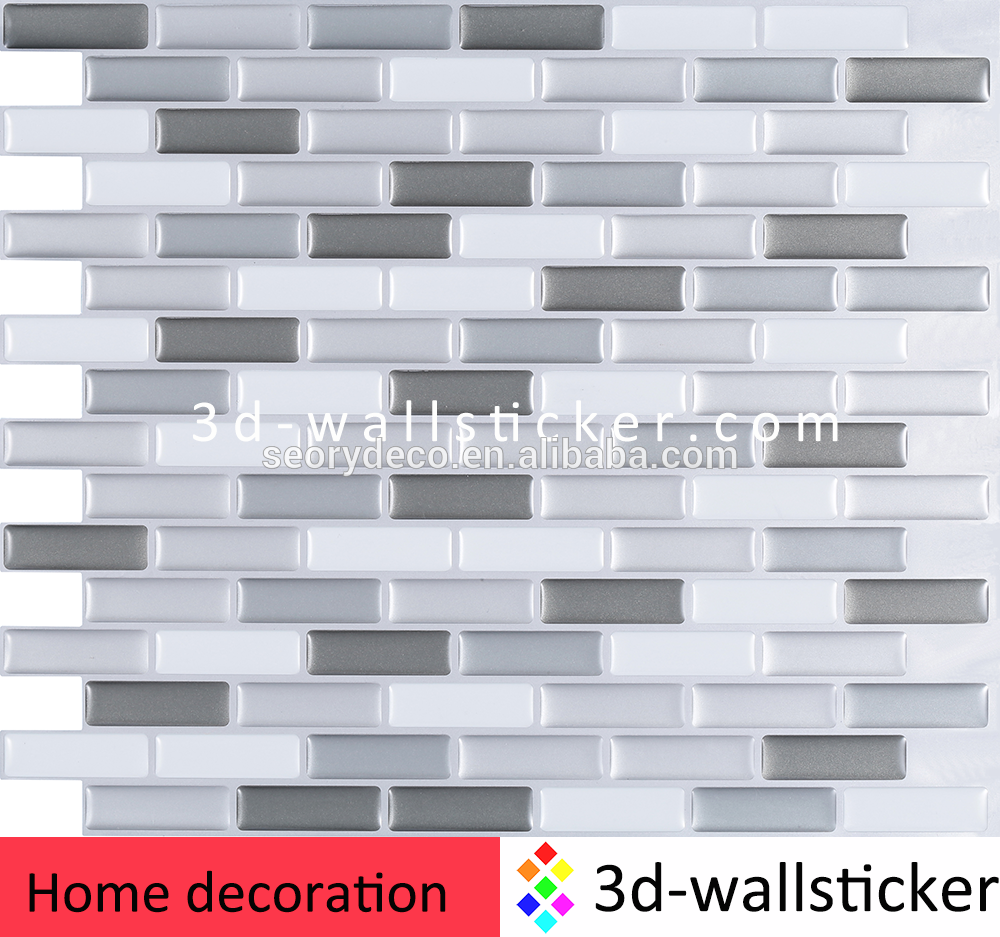 Hot sale new design home decoration self adhesive wall tile stickers ...