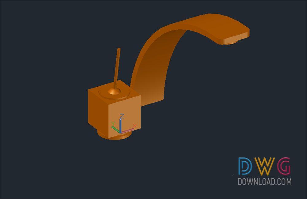 Faucet 3D Dwg Download faucet 3d dwg, 3D dwg drawing, kitchen ...