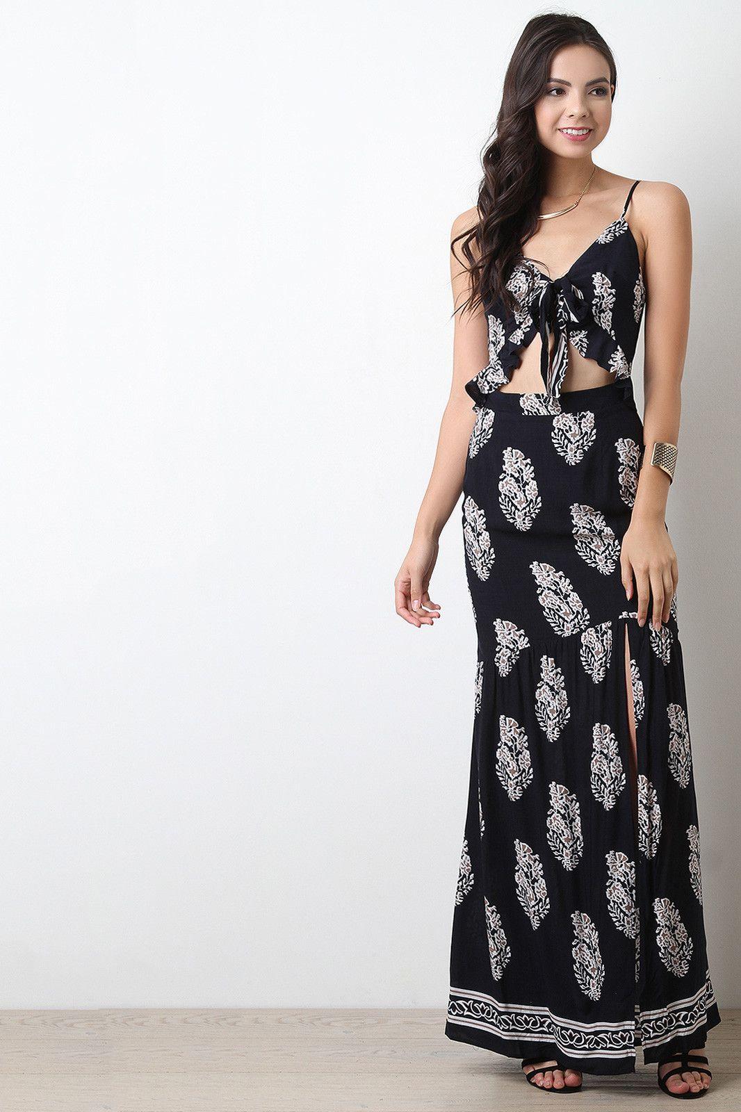 Midriff Maxi Dress
