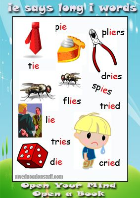 Vowel Digraph Posters - 'ie' sound - Download this FREE PRINTABLE ...