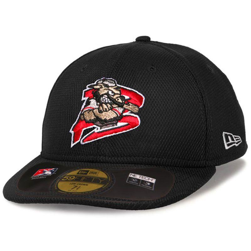 5972ff21de4e1 Batavia MuckDogs New Era Low Crown Diamond Era 59FIFTY Fitted Structured Hat  - Black
