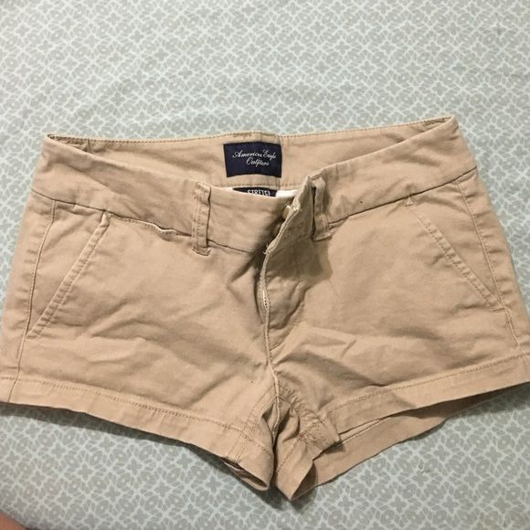 AE khaki shorts! 00 Perfect condition khaki American eagle shorts. Size 00. Just don't fit anymore. Price negotiable  American Eagle Outfitters Shorts