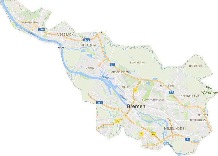 Bremen Karte Stadtteile Bremen Karte Karten Bremen