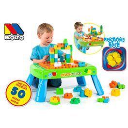 Mesa de bloques con 50 piezas. Completa y divertida mesa para hacer construcciones. Más info y compra en: http://www.elosito.com/lego-construccion-otras-construcciones/10859-mesa-bloques-50-pzas-con-magic-block-8410963144819.html