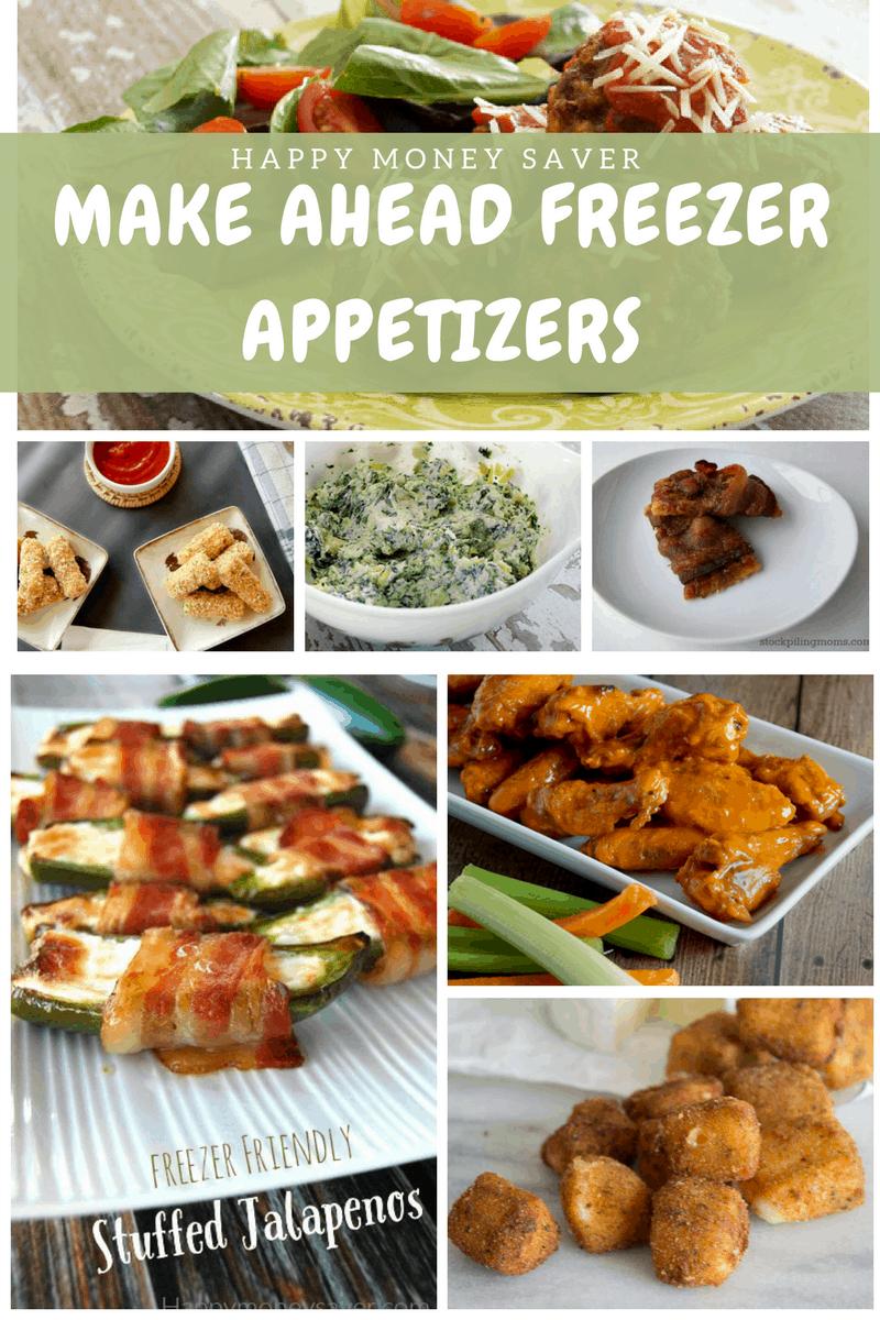 27 Easy Make-Ahead & Freeze Appetizers | Happy Money Saver