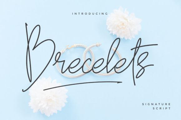 Download Brecelets (Font) by MuSan · Creative Fabrica | Signature ...