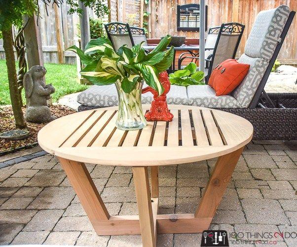 diy patio table diy coffee table