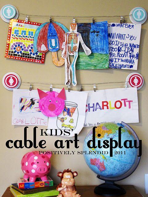 Kids' Cable Art Display