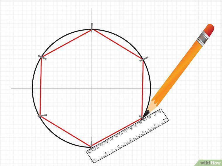 3 Ways To Draw A Hexagon Patrón Hexagonal El Hexagono Empalme De Papel Inglés