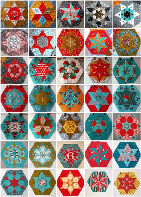 Little Apples 35 Hexagons by Lorena in Sydney, via Flickr
