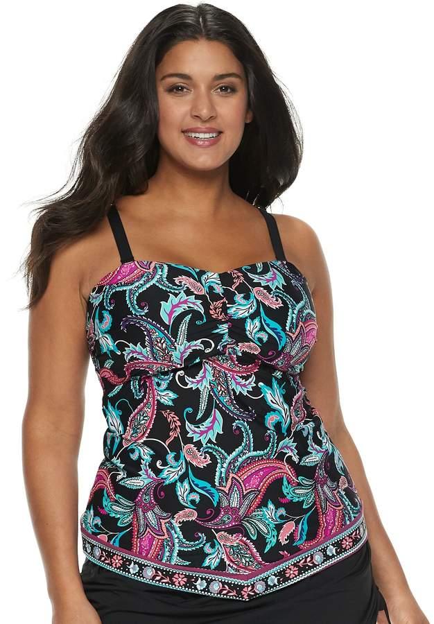 d11f22f9 Plus Size Apt. 9 V-Hem Bandeaukini Top #style #fashion #shopping #deals